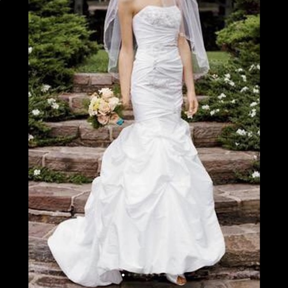 David\'s Bridal Dresses | Gorgeous Strapless Mermaid Type Wedding ...